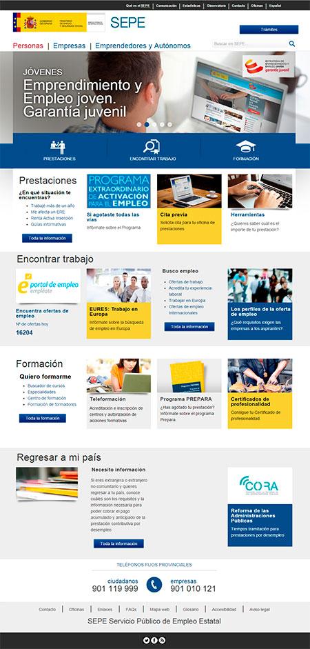 La página web del SEPE ha cambiado. Actualiza tus favoritos.
